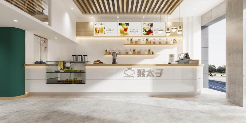 现代甜品冷饮奶茶店