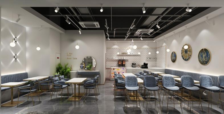 现代轻奢饮料店 奶茶店