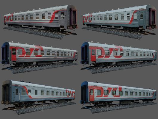 现代火车 列车 火车头
