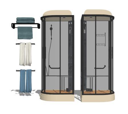 现代卫浴淋浴房组合1