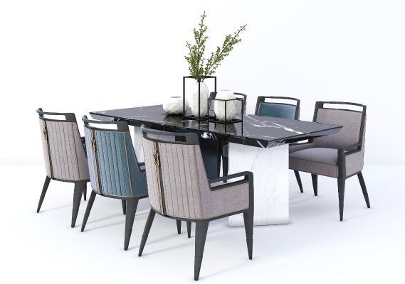 新中式餐桌椅 茶桌椅 餐桌