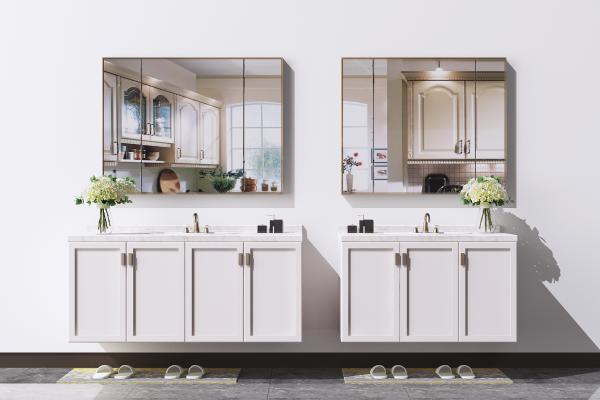 现代洗手台 卫浴柜 洗面盆