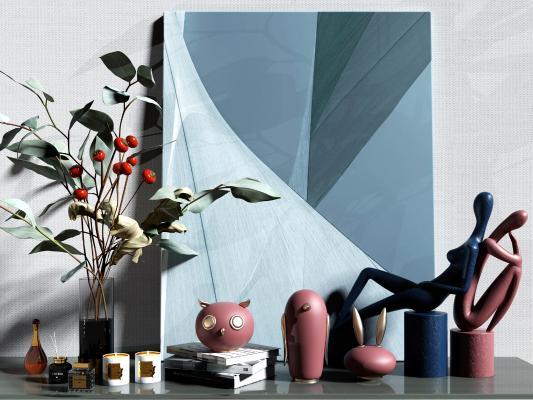 現代雕塑 裝飾 擺件組合