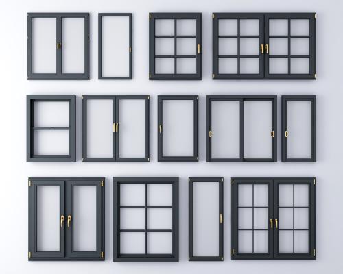 现代窗户 铝合金窗户组合