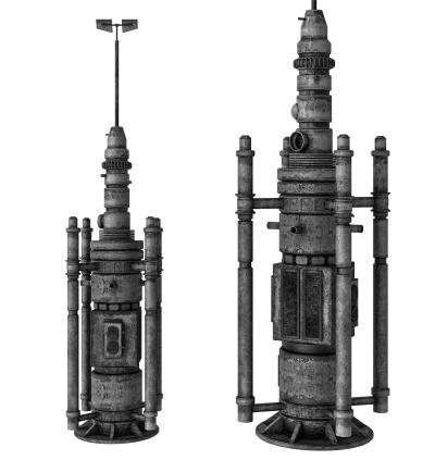 现代信号发射器 卫星基站 信号塔
