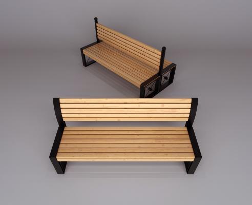 现代公园椅长凳