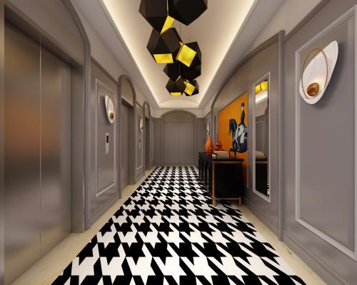简欧风格过道 走廊 电梯间