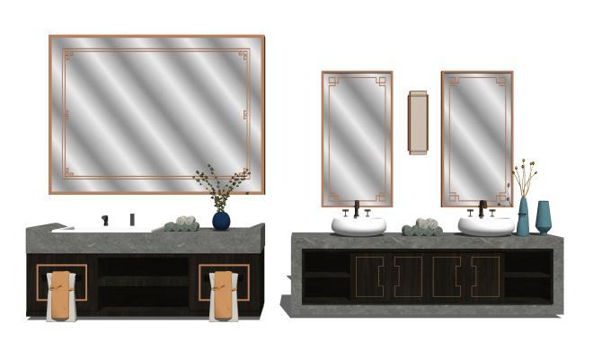 现代卫浴洗手台浴室柜组合