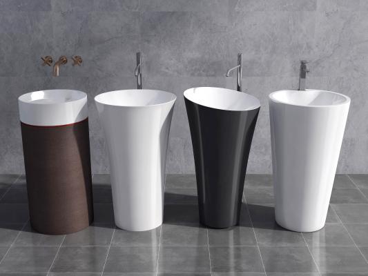现代落地式台盆 洗手盆