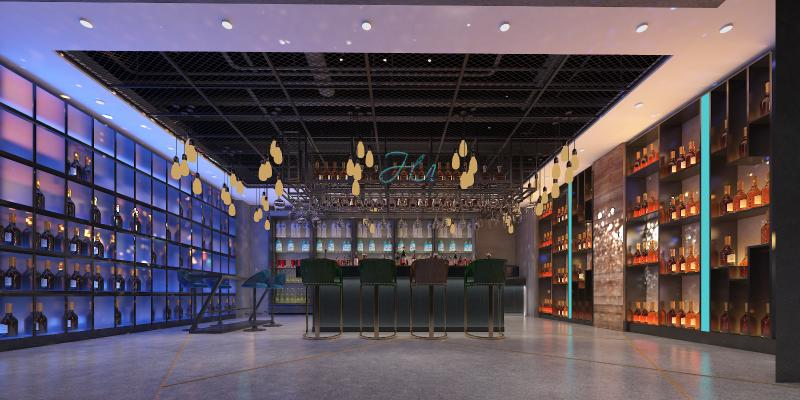 工业风KTV 超市售卖区 酒吧区