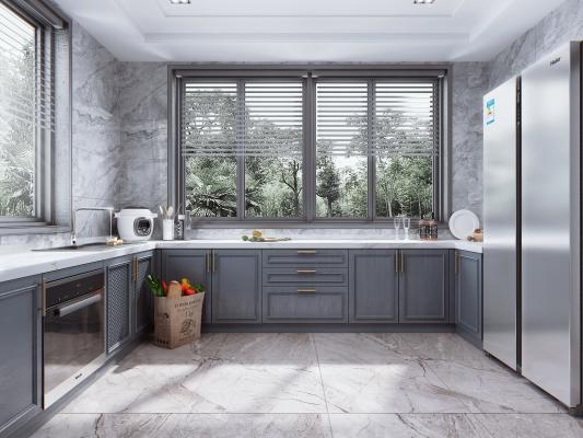 简美风格厨房 橱柜