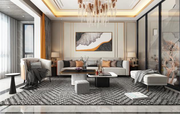 现代轻奢客厅