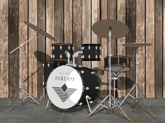 现代架子鼓乐器