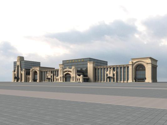 欧式火车站 商场
