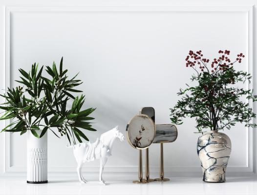 現代綠植盆栽 擺件