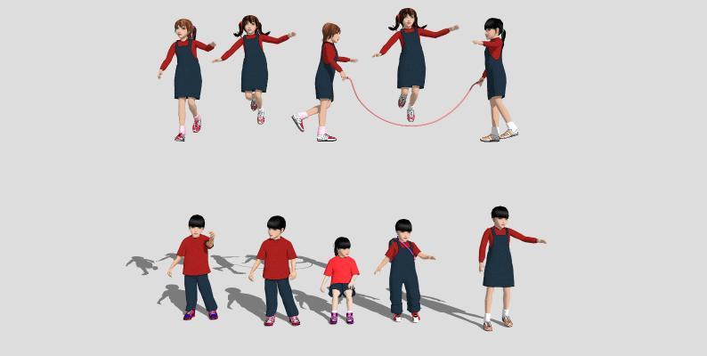 现代小孩 儿童运动 健身锻炼