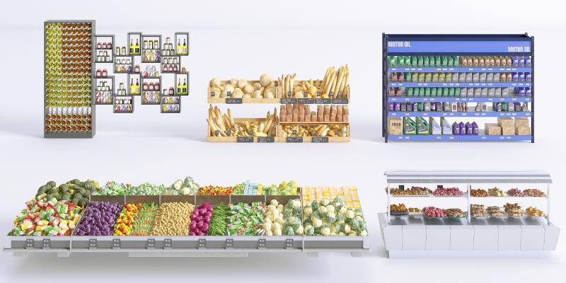 现代展示架 货架 保鲜柜