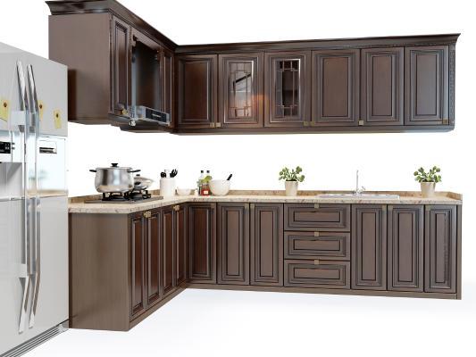現代廚房櫥柜 廚具 櫥柜