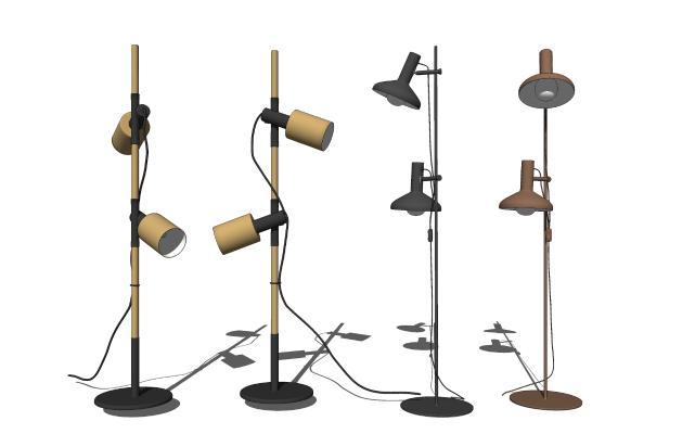 工业风落地灯组合