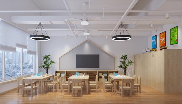 工业风幼儿园教室