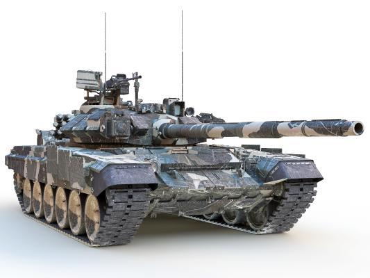 现代T90重型坦克 主站坦克 装甲车