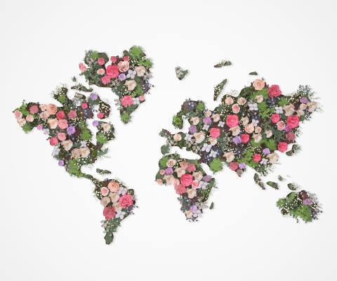 现代花艺绿植墙 植物墙 美陈墙饰