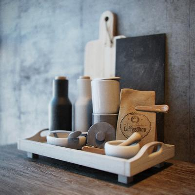 北欧厨房用品 组合菜板