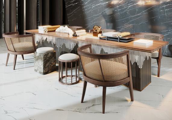 新中式書桌椅