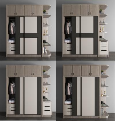 现代实木衣柜