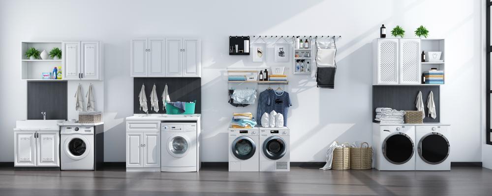 现代洗衣机 洗衣柜