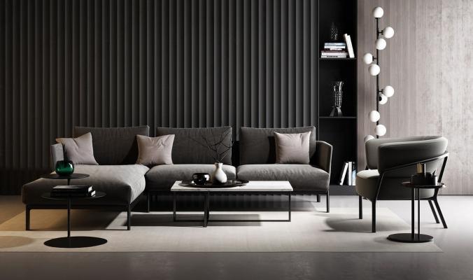 现代沙发茶几组