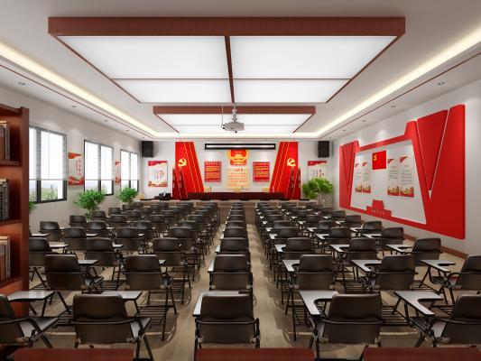 中式党建室 会议室
