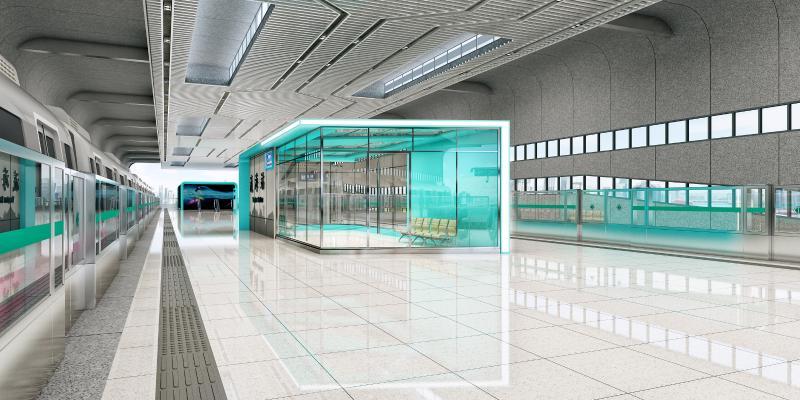 后现代地铁车站