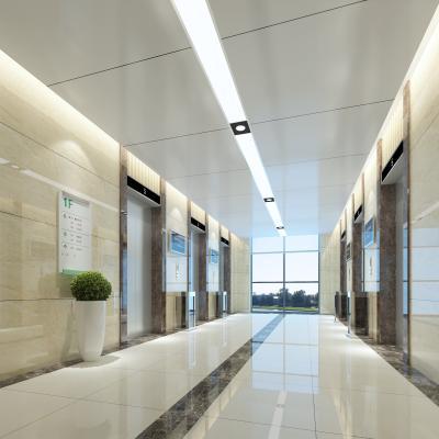现代电梯间 电梯厅 电梯门套
