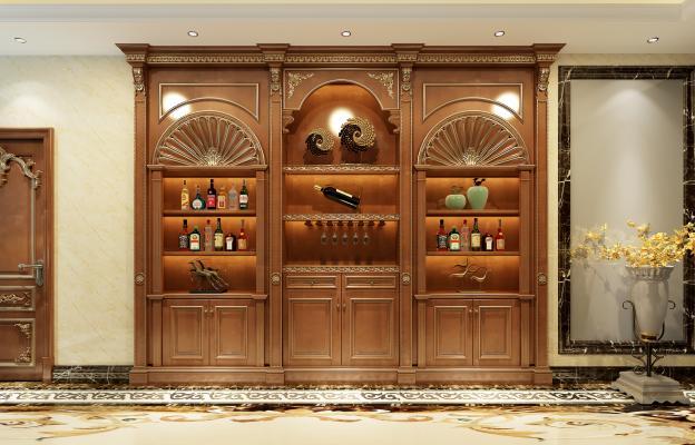 法式风格酒柜
