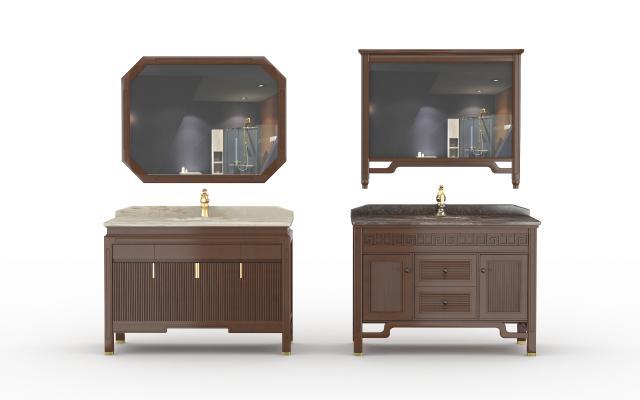 新中式浴室柜 洗手台