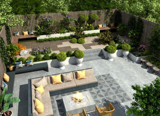 现代别墅 庭院景观