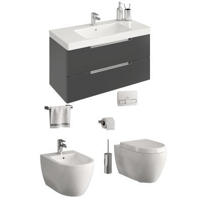 现代卫浴 洗手台 马桶组合