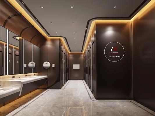 現代公共衛生間 洗手臺 衛生間門