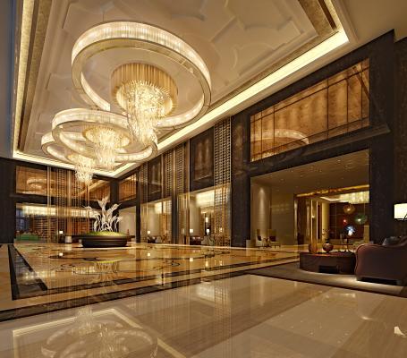 现代风格酒店大堂