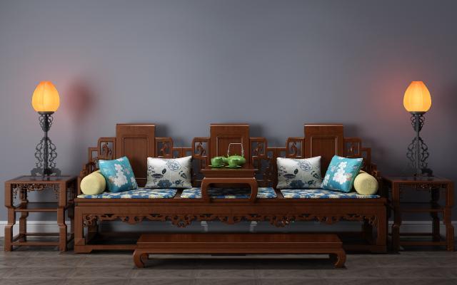 中式罗汉床 罗汉椅