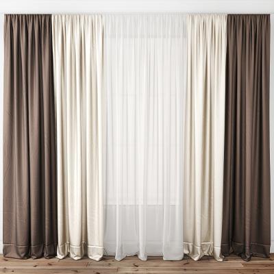 現代絲綢窗簾
