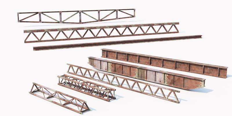 现代工业设备 三脚架 塔吊架