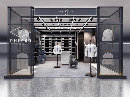 现代男装店