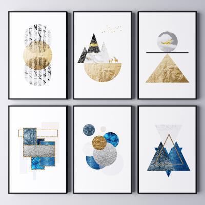 现代抽象几何装饰挂画 抽象画 艺术画