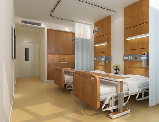 现代医院病房 病床