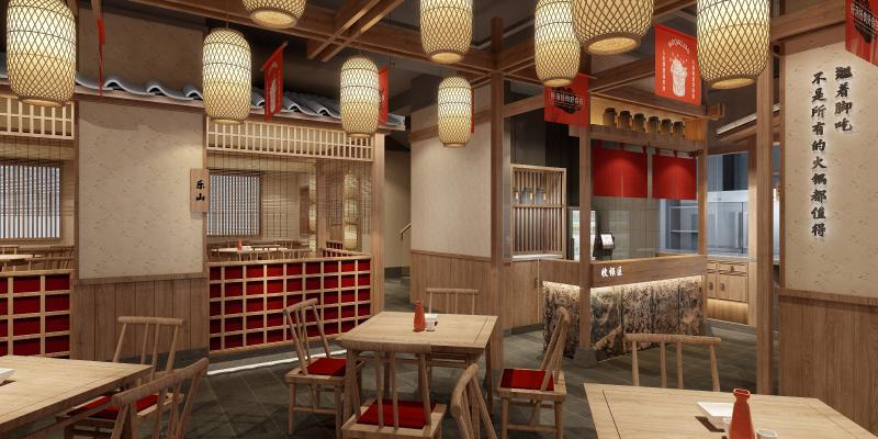 日式风格餐饮空间 牛排餐厅