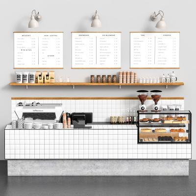 現代咖啡廳 收銀 菜單牌