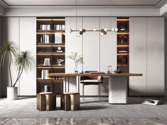 现代轻奢书房