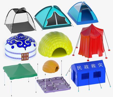 现代帐篷 遮阳棚 蒙古包
